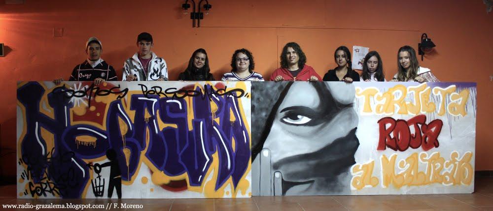 Graffitis contra la violencia de genero