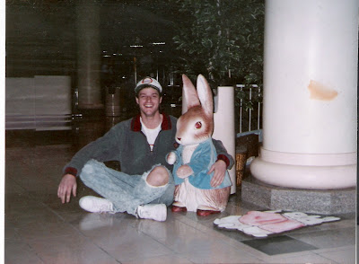 Jim was completely in lust with the girl playing the Easter Bunny at the mall that year. Sadly, this is as close as he would come to realizing his carnal ambitions with her.