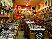 A record store full of CDs. Punk ones, too.