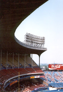 A look down one side of the old Municipal Stadium