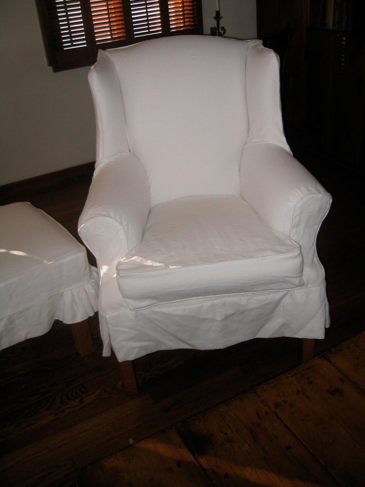 Red Wingback Chair Slipcover Racing Simulator Hydraulic Uk A Little Of This That And The Other White Linen Slipcovers