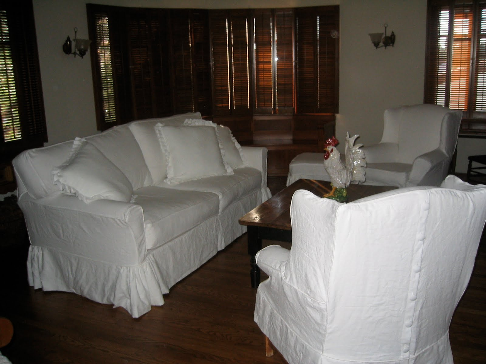 Linen Slipcover Sofas White Outdoor Sofa Table A Little Of This That And The Other Slipcovers