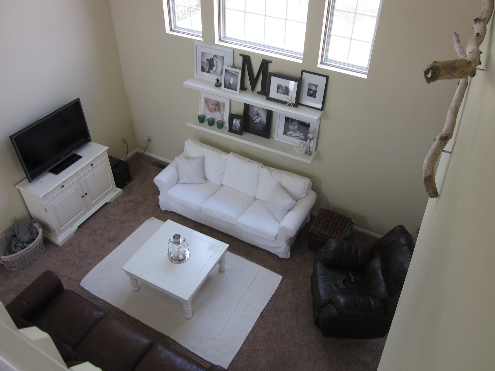 perfect imperfection: living room and, driftwood?