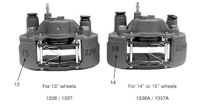 Ford escort brake caliper