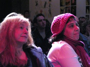 Roxanne with Jean Lehrman at Total Eclipse, The 2005 Annual Alternative Spoken Word Extravaganza at the Bowery Poetry Club