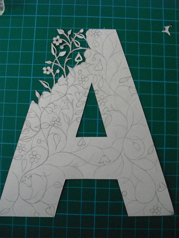 Simple Paper Chick Craft: Folk Art Papercuts By Suzy Taylor: Papercut Initials