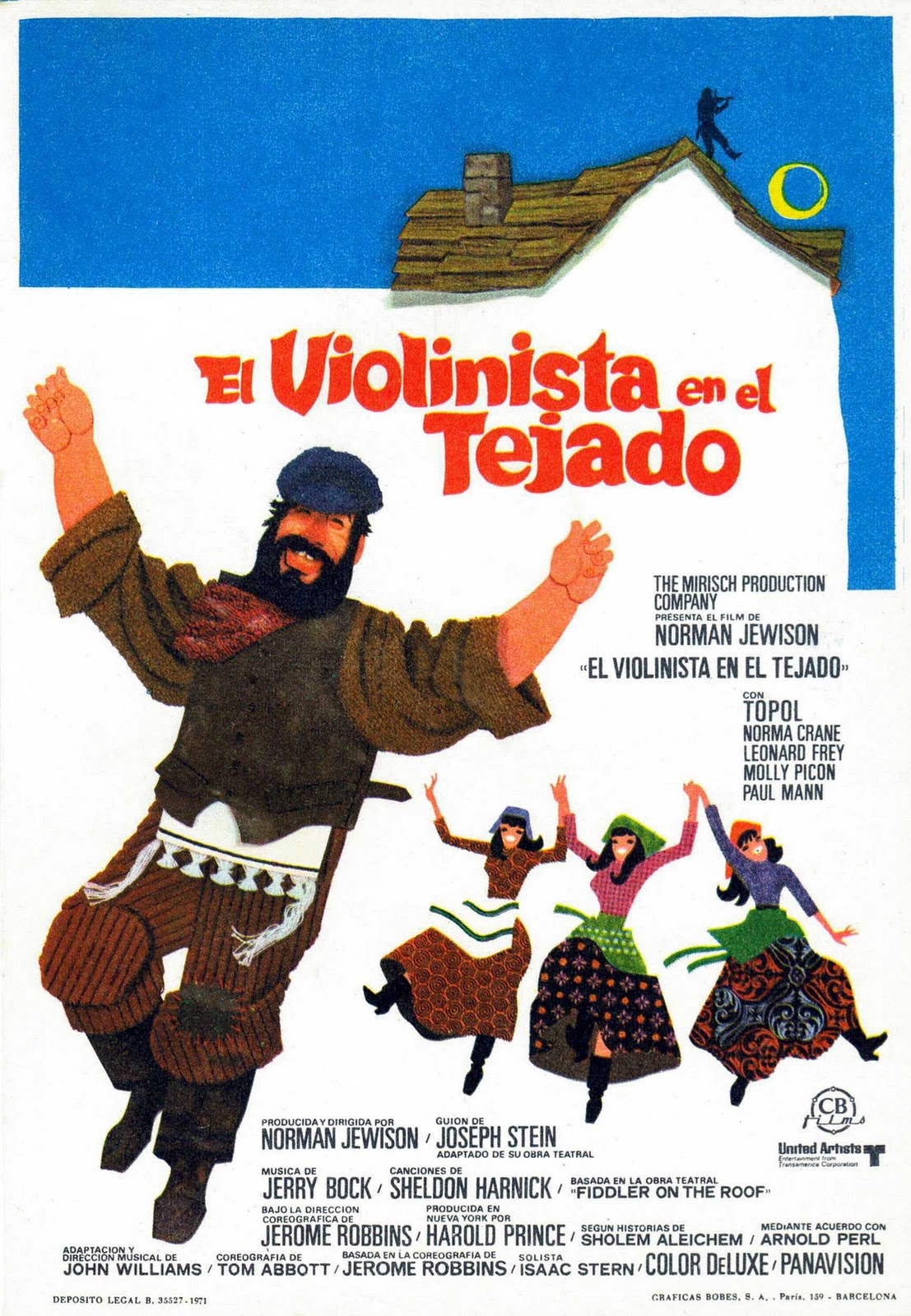 Movie Posters Fiddler On The Roof 1971