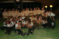 Farewell Dinner for Hawaiian Scout Troop 42 at Singapore Recreation Club