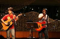Jack, Rai & Alvin performing at Esplanade Flipside Festival