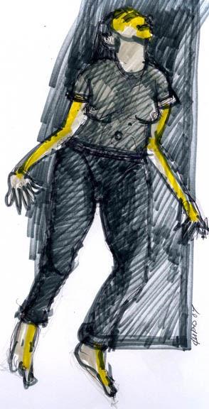 dibujoryenderizados Dibujo gestual de figura humana