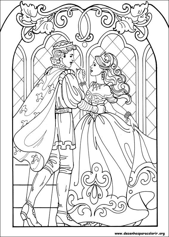 Barbie Swan Princess Coloring Pages Dinokids Desenhos Para Colorir