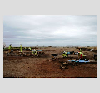 Excavations looking west