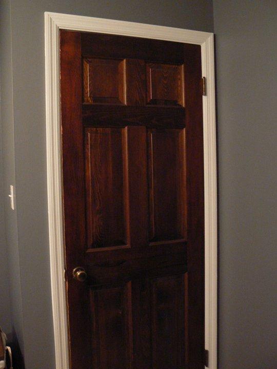 Pictures Of Dark Wood Door With White Trim