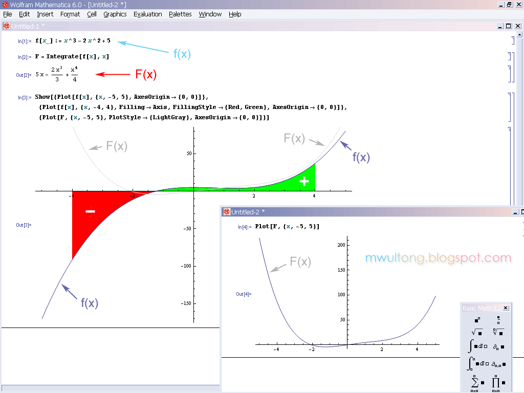 Mathematica Integrate, Integral