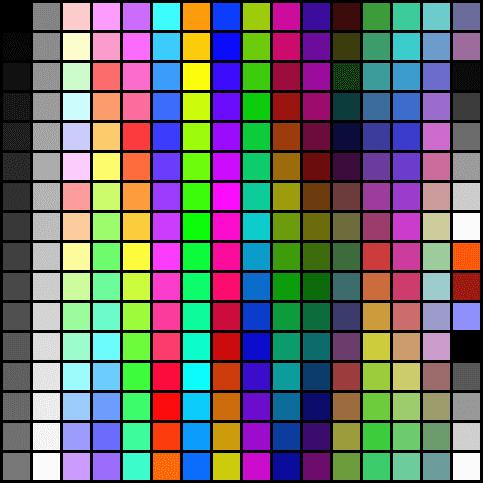 형광색 칼라표
