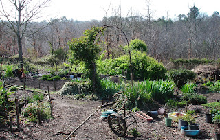 Potager or Vegetable garden in early spring