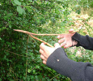 Dowsing for water with a Hazel stick