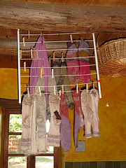 drying socks