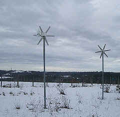 Rutland wind generator in the snow