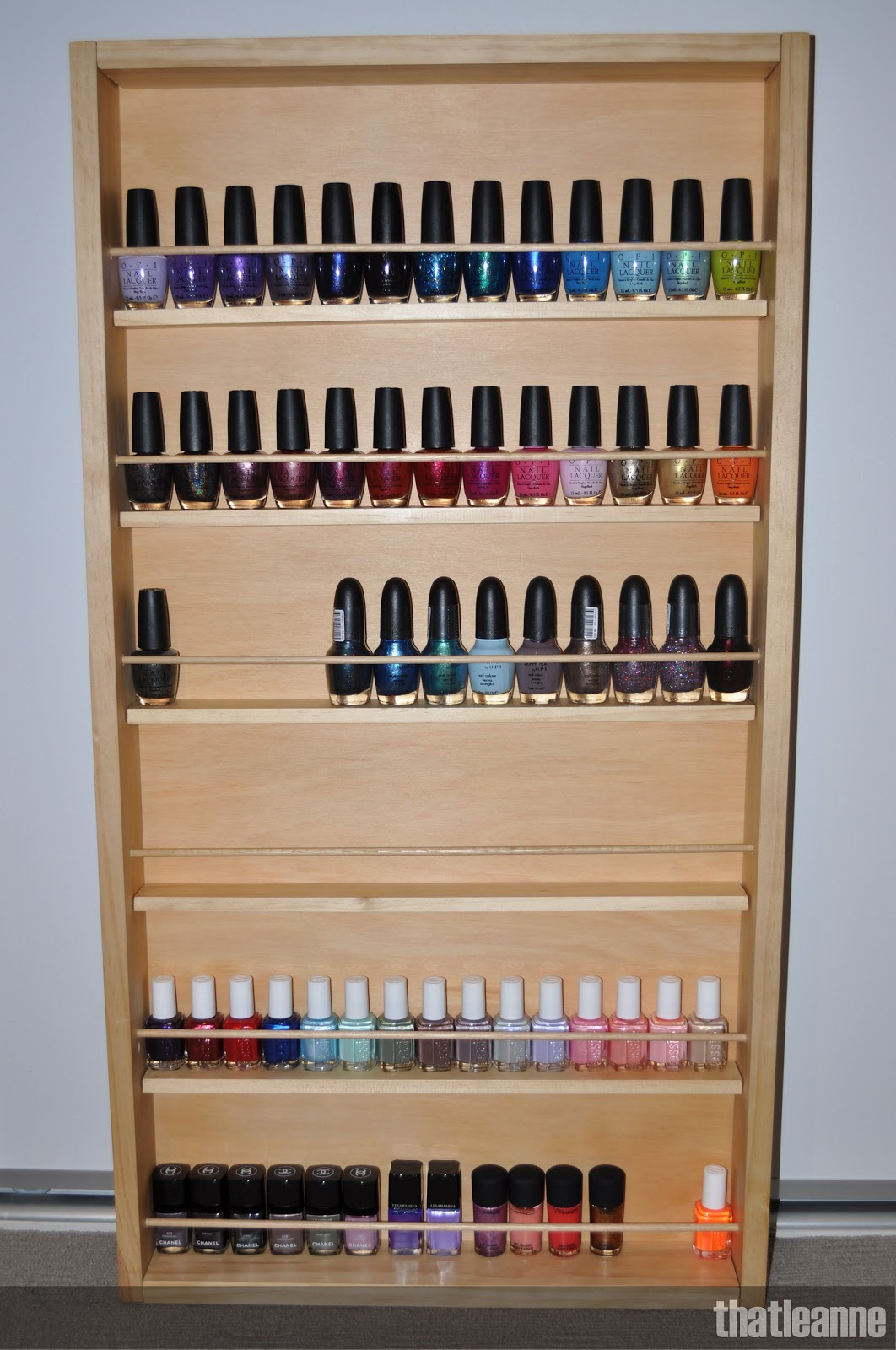 nail polish shelves on pinterest nail room nail station and nail polish storage. Black Bedroom Furniture Sets. Home Design Ideas