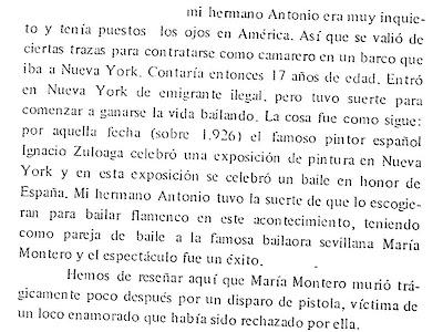 Papeles Flamencos: El asesinato de María Montero
