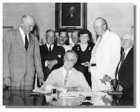 FDR Signs Off on Social Security