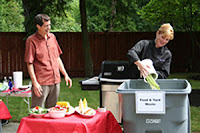 King County Washington residents dispose of food waste.