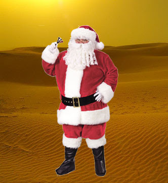 Santa Clause in the desert