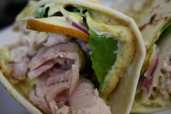 Turkey and Pear Wraps with Curried Aioli