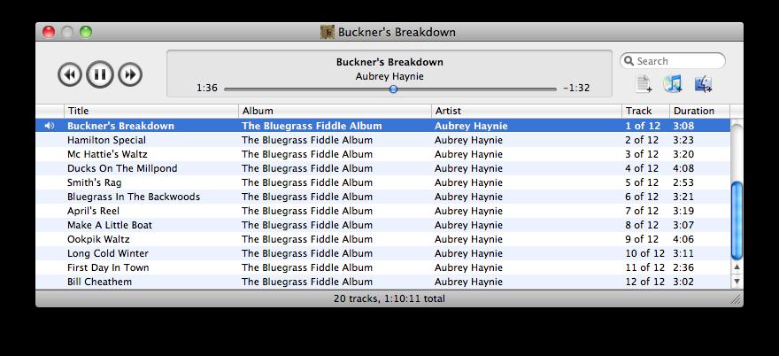 Digital Audio Blog: Decibel music player for Mac OS X