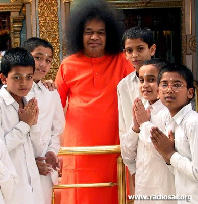 Image result for images of Sathya Sai Baba with children