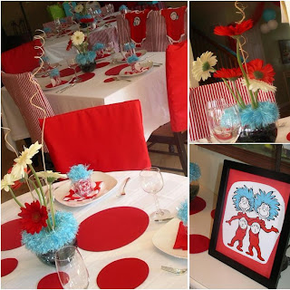 Thing 1 And Thing 2 Baby Shower Decorationsthing 1 And Thing 2 Baby