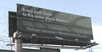 Briar Chapel Billboard Near South Square in Durham