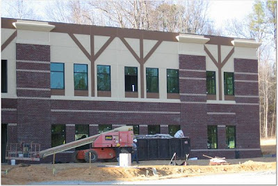Woods Charter School Exterior Almost Complete in Briar Chapel