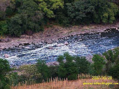 Río Santiago, al fondo de la barranca