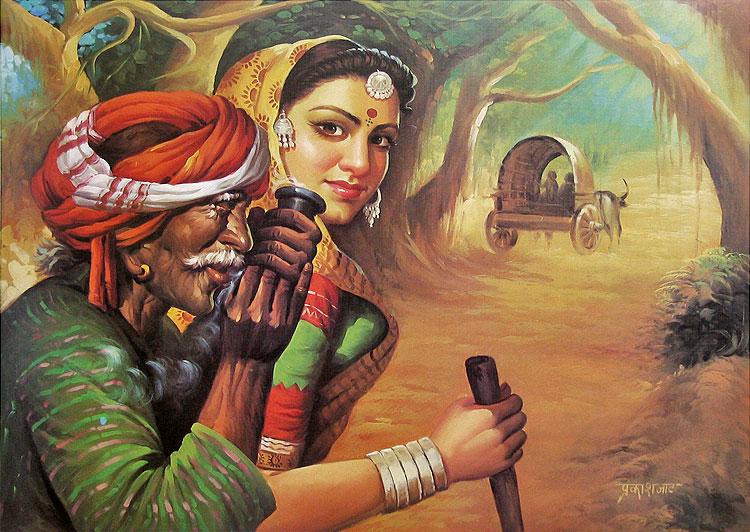 Artistic Indian Art Pa...