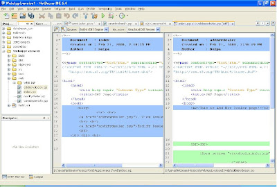 Netbeans6/6 5 my best practices: Compare Two Files in Netbeans6