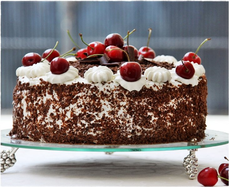 Baking Swiss Black Forest Cake Whipping Up Low Fat Cream Into