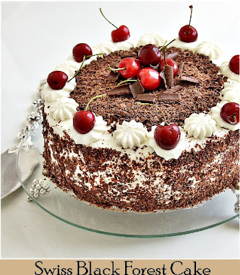 final+2 {Baking} SWISS BLACK FOREST CAKE ... whipping up low fat cream into submission!
