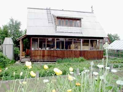 Photo of a Russian dacha