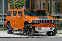 custom pimped orange Hummer H2