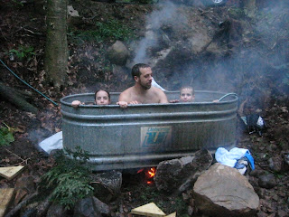 Two Pines Tree House Redneck Hot Tub