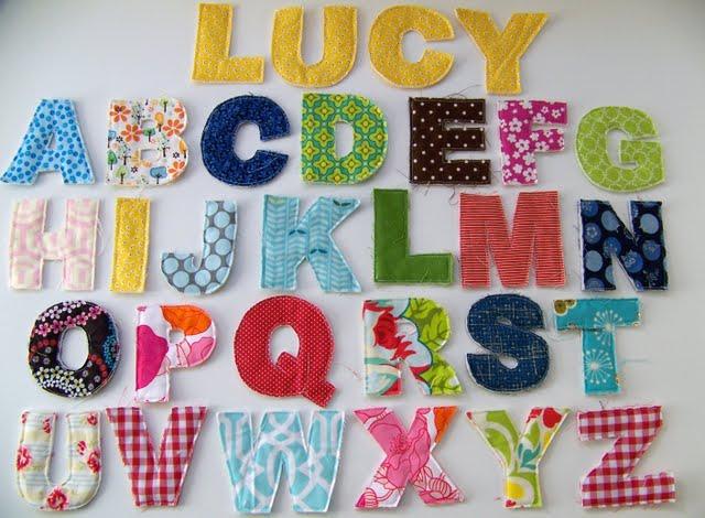 Free Applique Letters Patterns