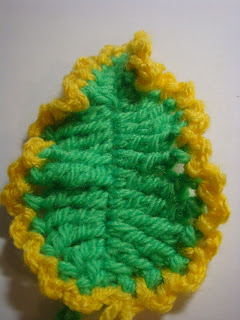 finished crochet leaf