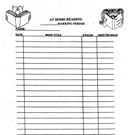 4th grade reading log template - edtech workshop upgrading the reading log
