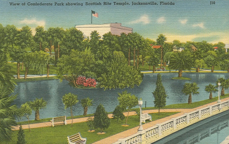 Vintage Travel Postcards Jacksonville Florida