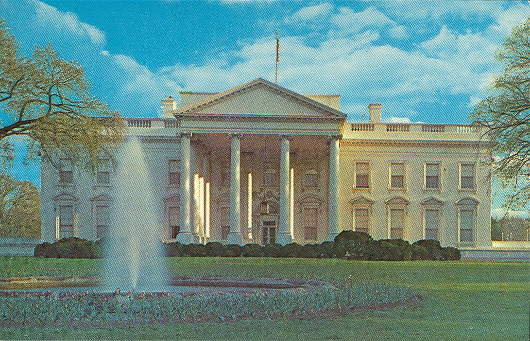 Vintage Travel Postcards: The White House - Washington DC