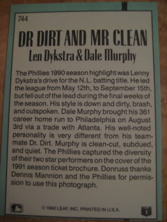 Baseball Cards Come To Life Dr Dirt Mr Clean And Dennis Mannion