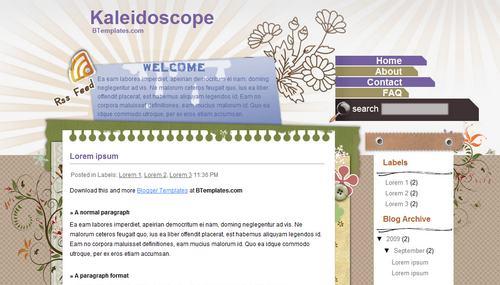 Kaleidoscope Blogger Template
