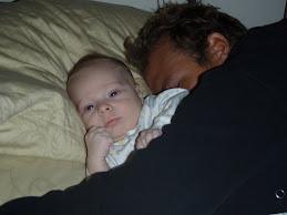 daddy sleeps...deigey wakes
